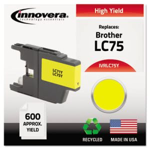Innovera Remanufactured (LC75Y) Ink, Yellow, 1 Each (IVRLC75Y)