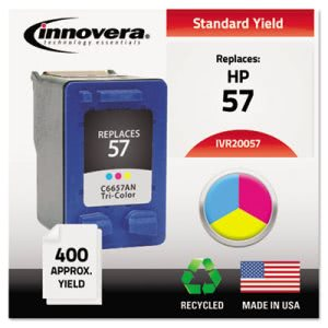 Innovera 20057 Compatible, Remanufactured, C6657AN (57), Tri-Color (IVR20057)