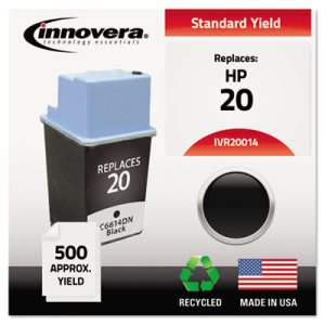 Innovera 20014 Compatible, Remanufactured, C6614DN (20) Ink, Black (IVR20014)