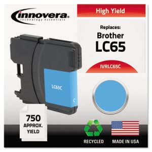 Innovera Remanufactured (LC65) Ink, Cyan (IVRLC65C)