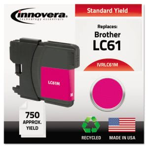 Innovera Remanufactured Ink (LC61), Magenta (IVRLC61M)