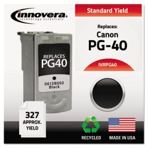Innovera PG40 Compatible, Remanufactured, 0615B002 (PG40) Ink, Black (IVRPG40)