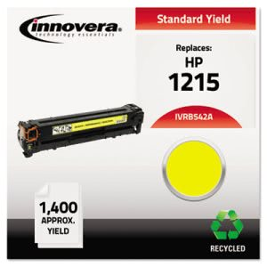 Innovera Remanufactured CB542A (125A) Laser Toner, 1400 Yield, Yellow (IVRB542A)
