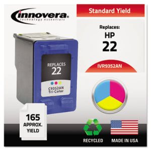 Innovera 9352AN Compatible, C9352AN (22) Ink, Tri-Color (IVR9352AN)