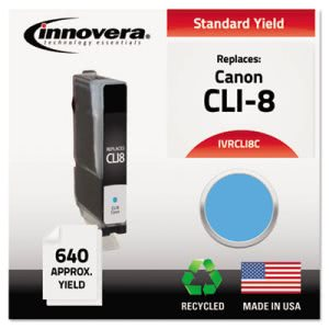 Innovera Remanufactured (CLI8C) , Ink, Cyan, 1 Each (IVRCLI8C)