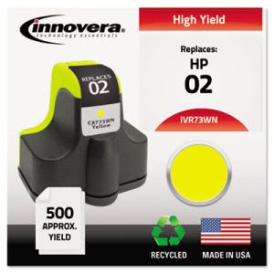 Innovera 73WN Compatible, Remanufactured, C8773WN (02) Ink, Yellow (IVR73WN)