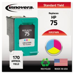 Innovera 37WN Compatible, Remanufactured, CB337WN (75) Ink, 170 Page-Yield, Tri-Color (IVR37WN)