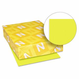 Neenah Paper Astrobrights Colored Card Stock, 65 lb., 8-1/2 x 11, Sunburst Yellow, 250 Sheets (WAU22791)