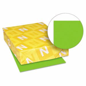 Neenah Paper Astrobrights Colored Card Stock, 65 lbs., 8-1/2 x 11, Martian Green, 250 Sheets (WAU21811)