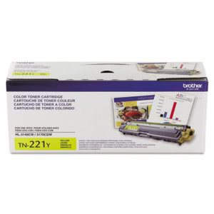 Brother TN221Y Toner Cartridge, 1400 Page-Yield, Yellow (BRTTN221Y)