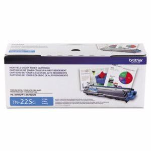 Brother TN225C High-Yield Toner Catridge, 2200 Page-Yield, Cyan (BRTTN225C)