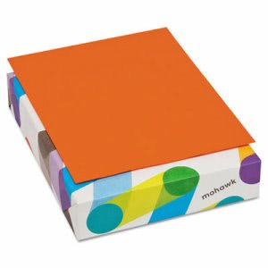 Mohawk BriteHue Colored Paper, 20lb, 8-1/2 x 11, Orange, 500 Sheets (MOW472608)