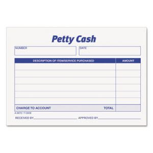 Tops Received of Petty Cash Slips, 3 1/2 x 5, 50/Pad, 12/Pack (TOP3008)
