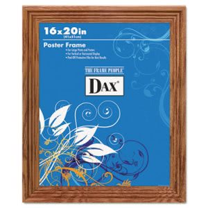 Dax Plastic Poster Frame w/Plexiglas Window, 16 x 20, Medium Oak (DAX2856V1X)