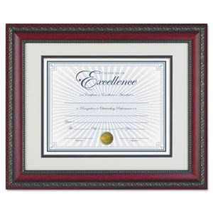 "Dax World Class Document Frame w/Certificate, Rosewood, 11 x 14"" (DAXN3245S3T)"