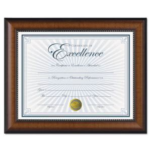 "Dax Document Frame, Walnut/Black, Gold Accents, 8 1/2 x 11"" (DAXN3028N1T)"