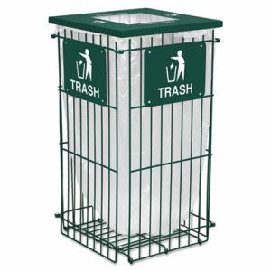 Ex-Cell Clean Grid Collapsible 45 Gallon Waste Can, Hunter Grn (EXCRGU1836THGR)