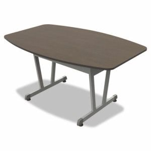 Linea Italia Conference Table, Mocha/Metallic Gray (LITTR724MOC)