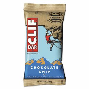 Clif Bar Energy Bar, Chocolate Chip, 2.4oz, 12/Box (CBC160004)