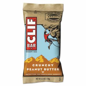 Clif Bar Energy Bar, Crunchy Peanut Butter, 2.4oz, 12/Box (CBC50120)