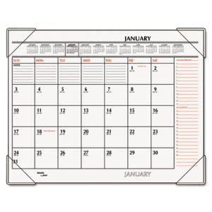"At-a-glance Two-Color Desk Pad, Black/Red, 22"" x 17"", 2017 (AAGSK117000)"