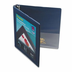 "Avery Framed View Binder With Slant Rings, 1/2"" Capacity, Navy Blue (AVE68051)"