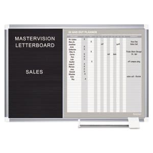 Mastervision In-Out and Notice Board, 36x24, Silver Frame (BVCGA0387830)