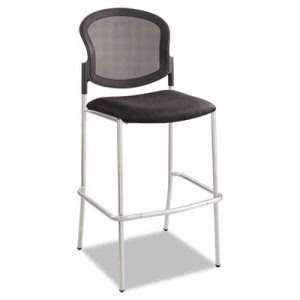 Safco Diaz Bistro Chair, Mesh Back/Fabric Seat, Black (SAF4198BL)