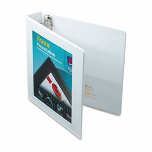 "Avery View Binder w/ One Touch Locking Rings, 1-1/2"" Capacity, White (AVE68060)"