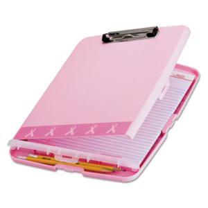 Officemate Breast Cancer Awareness Clipboard Box, 8 1/2 x 11, Pink (OIC08925)