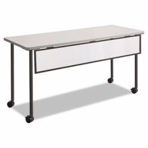 "Safco Impromptu Modesty Panel, Polycarbonate/Steel, 54""x1""x9"", Black (SAF2076BL)"