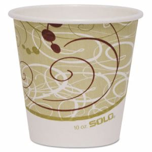 Symphony 10-oz. Squat Paper Hot Cups, 1,000 Cups (SCC 410SMSYM)