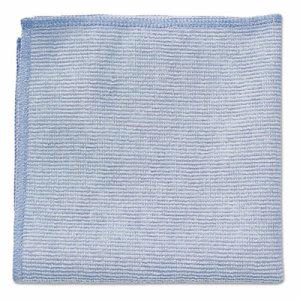 Rubbermaid 1820579 Microfiber Cleaning Cloths, Blue, 24 Cloths (RCP 1820579)