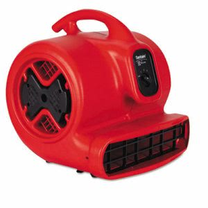 Sanitaire Commercial Three Speed Air Mover, 1/2 HP Motor, Red/Black (EURSC6053)
