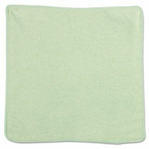 Rubbermaid Microfiber Cleaning Cloths, Green, 24 Cloths (RCP 1820578)