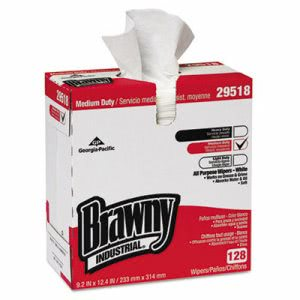 Brawny Industrial Airlaid Med-Duty Wipers, White, 1280 Wipers (GPC29518CT)