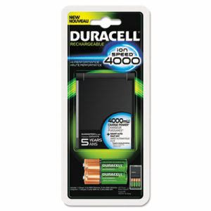 Duracell Ion Speed 4000 Hi-Performance Charger, Includes Batteries (DURCEF27)