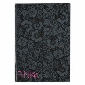 Pink & Black Cartonbound Notebook, 8-1/4 x 11-5/8, 96 Sheets (JDK400015934)