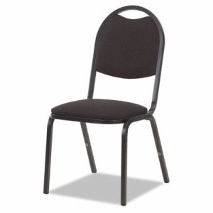 Virco Fabric Upholstered Stack Chair, Black, 4 Chairs (VIR8917B259BK01)