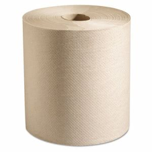 Putney Hardwound Roll Paper Towels, 7 7/8 x 800 ft, Natural, 6 Rolls (MRCP728N)
