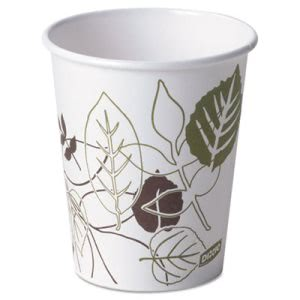 Dixie Pathways Paper Hot Cups, 10 oz. Cups, 1000 Cups (DIX 2340PATH)
