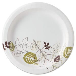 "Dixie Pathways 8-1/2"" Paper Plates, Mediumweight, 1,000 Plates (DXEUX9PATH)"