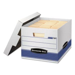 Bankers Box Storage Box with Locking Lid, Letter/Legal, 4 Boxes (FEL0078907)