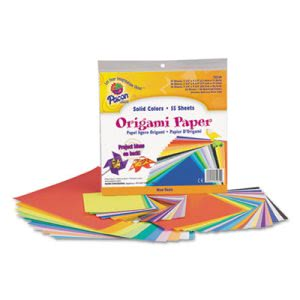 Pacon Origami Paper, 30 lbs., 9-3/4 x 9-3/4, Assorted Bright Colors, 55 Sheets/Pack (PAC72230)