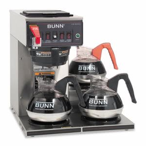 Bunn Automatic Brewer, 12-Cups, 3-Burners, Stainless Steel (BUNCWTF153LP)