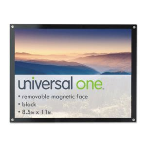Universal Acrylic Easel Back Magnetic Frame for 8.5x11 Insert, Black (UNV76856)