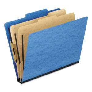 Pendaflex Pressguard Folders, Letter, Six-Section, Blue, 10 per Box (PFX1257LB)