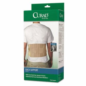 "Curad Back Support Panel, Elastic, 33"" to 48"" Waist Size, Beige (MIIORT22000D)"