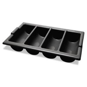 Miller's Creek Four-Compartment Cutlery Bin, 22 x 12 x 4, Black (MLE682331)