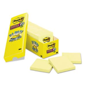 Post-it Super Sticky Notes, 3 x 3,  Yellow, 24-90 Sheet Pads/Pack (MMM65424SSCP)